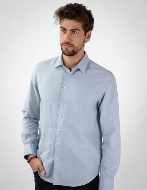 Blue Linen cotton Shirt