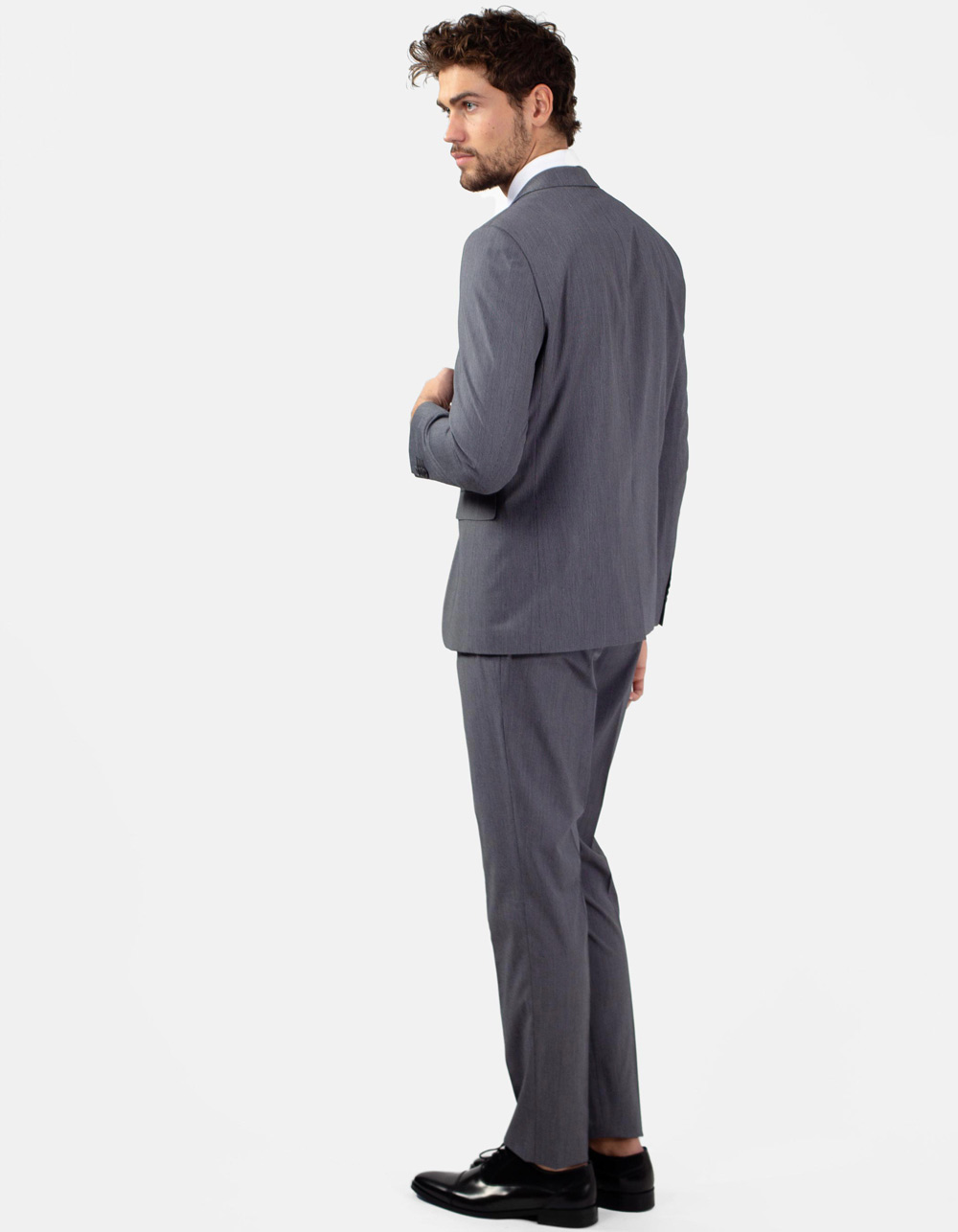 Black micro stripe suit - Backside