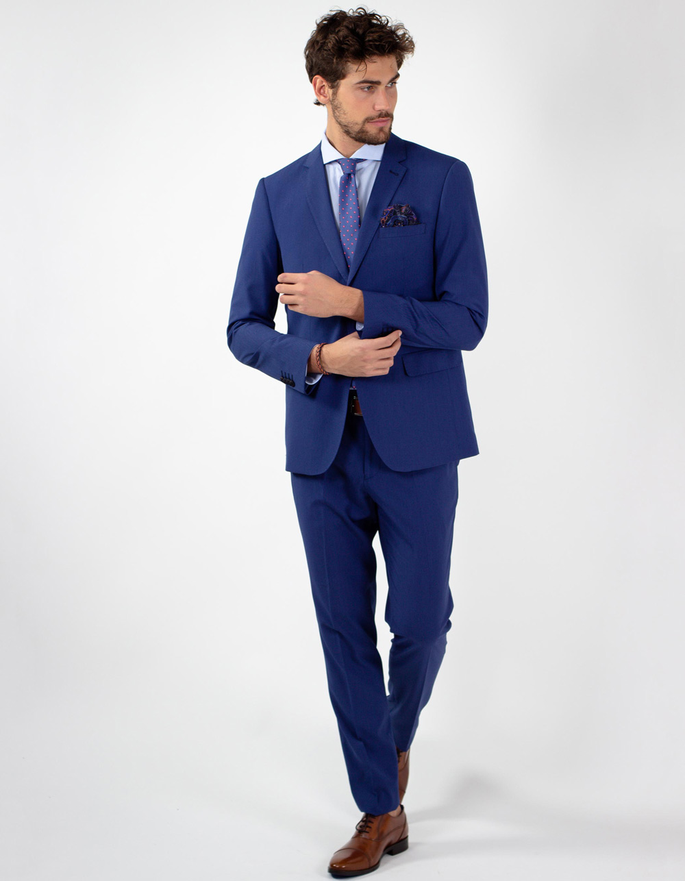 Blue micro stripe suit