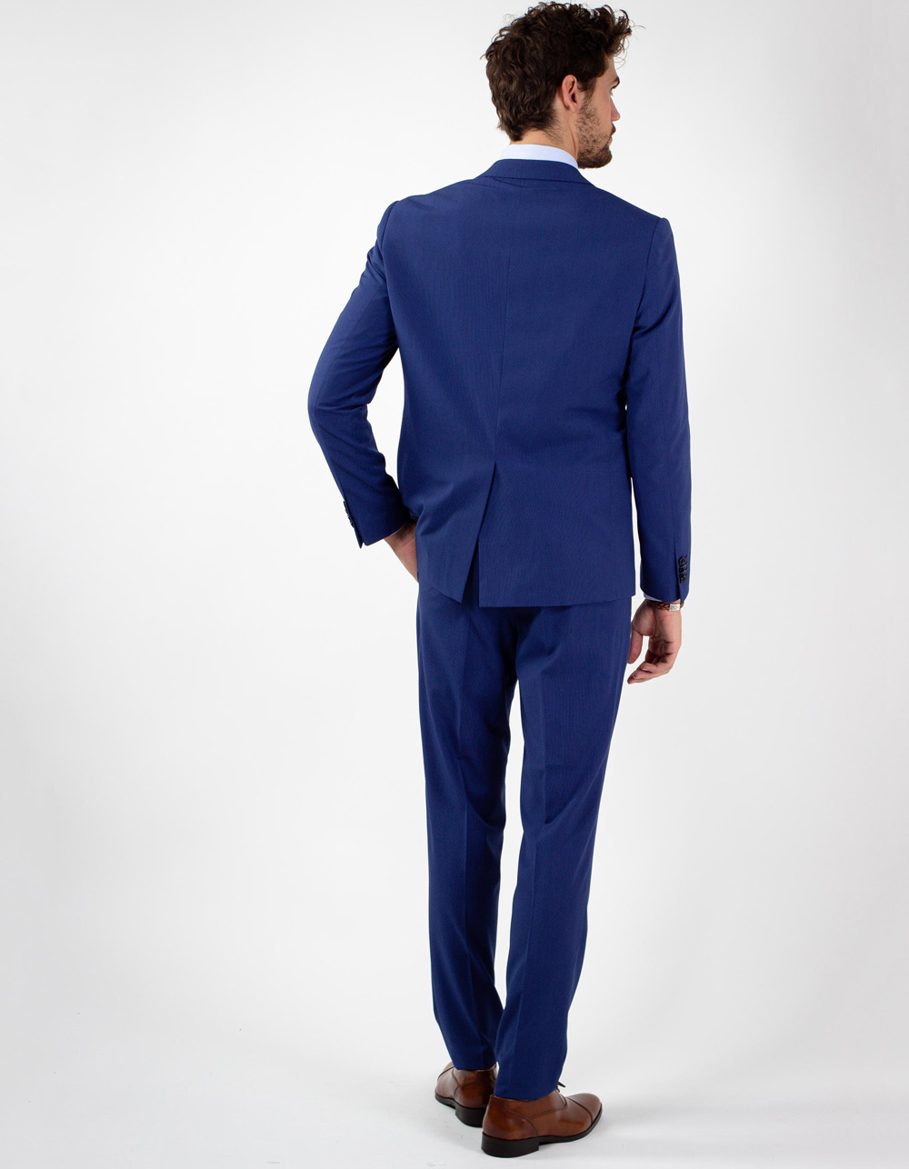Blue micro stripe suit - Backside