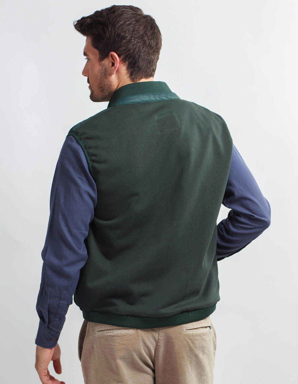 Green vest front part padded back part of point - Backside
