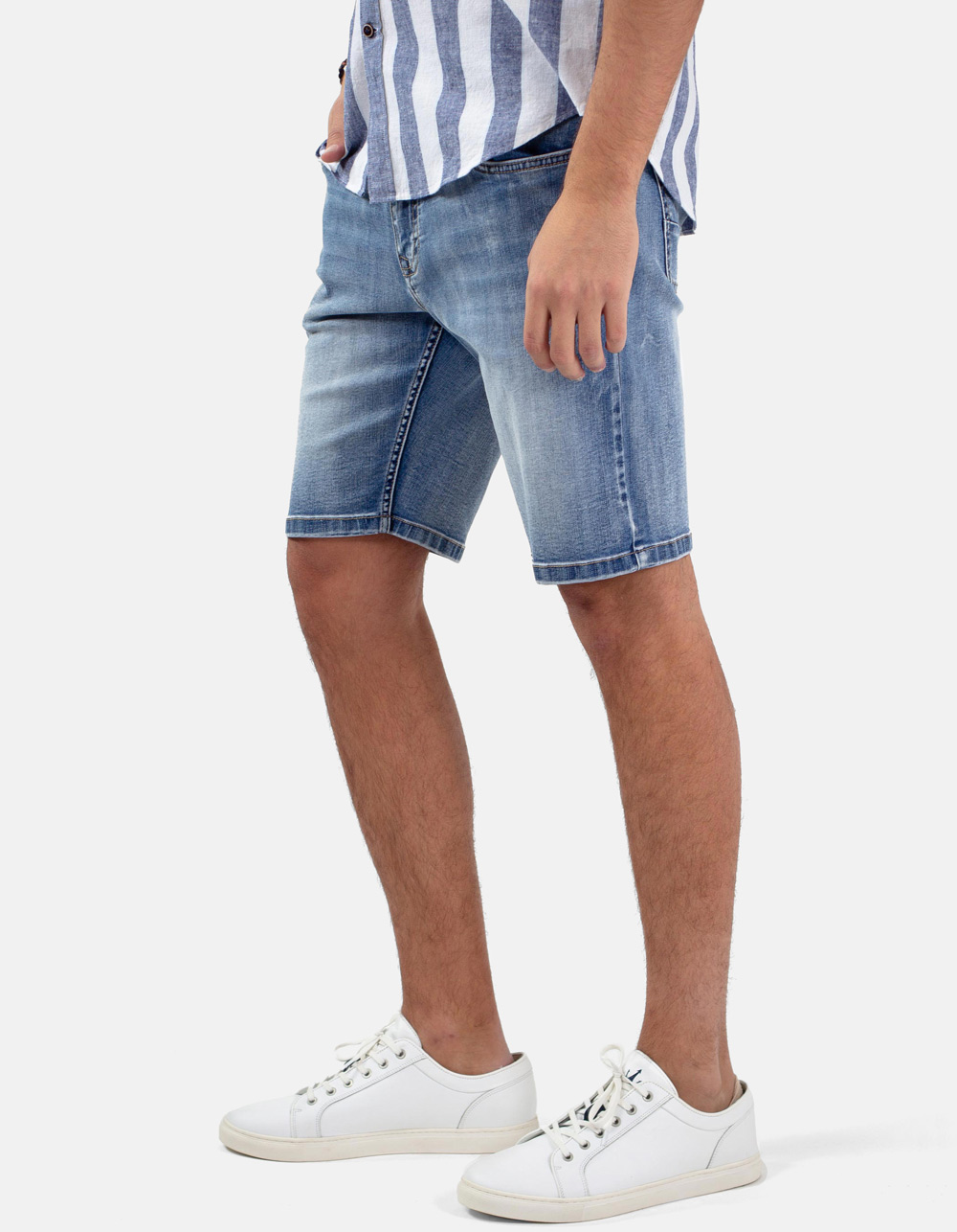 Denim 5 pocket bermudas