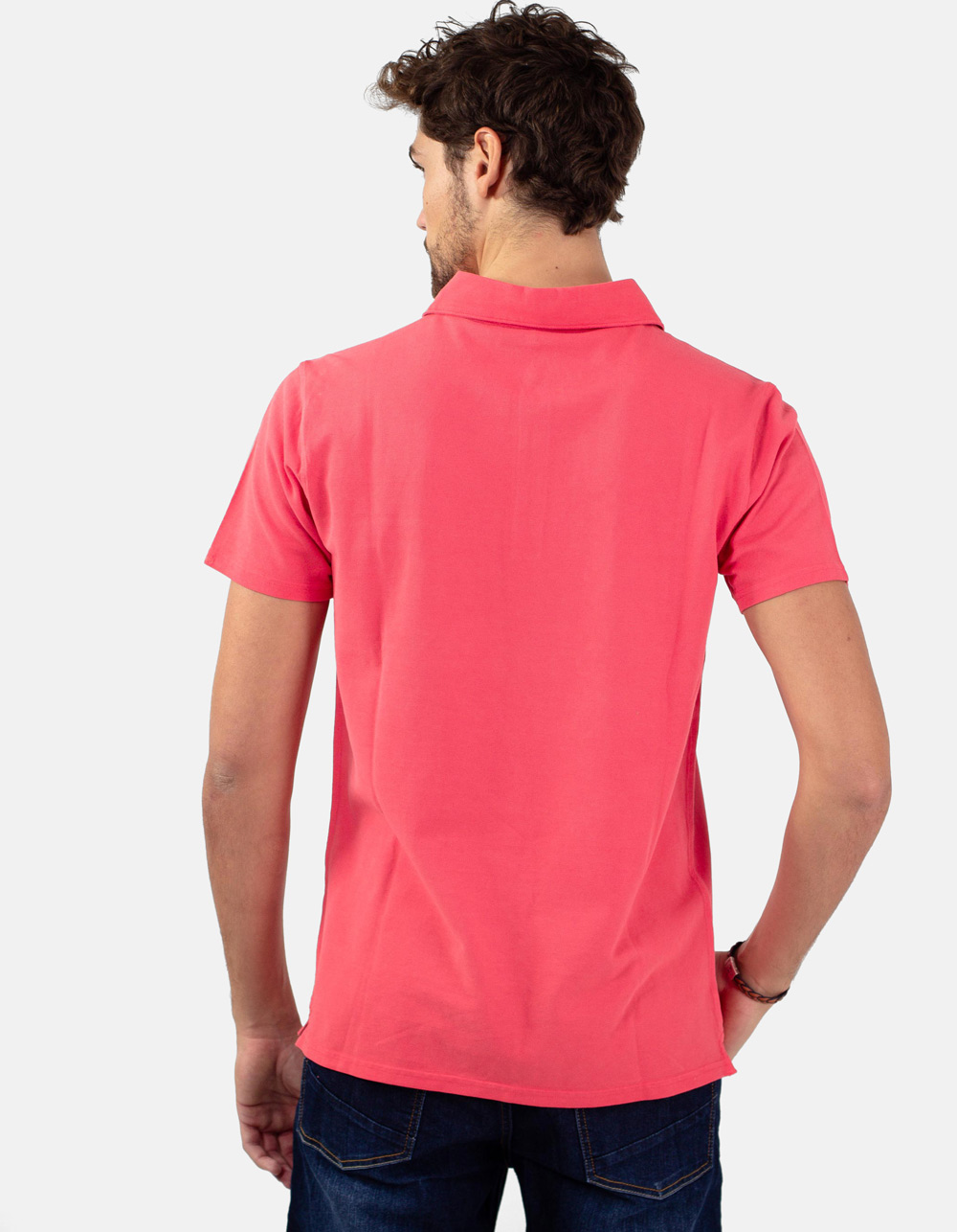 coral pocket piqué polo - Backside