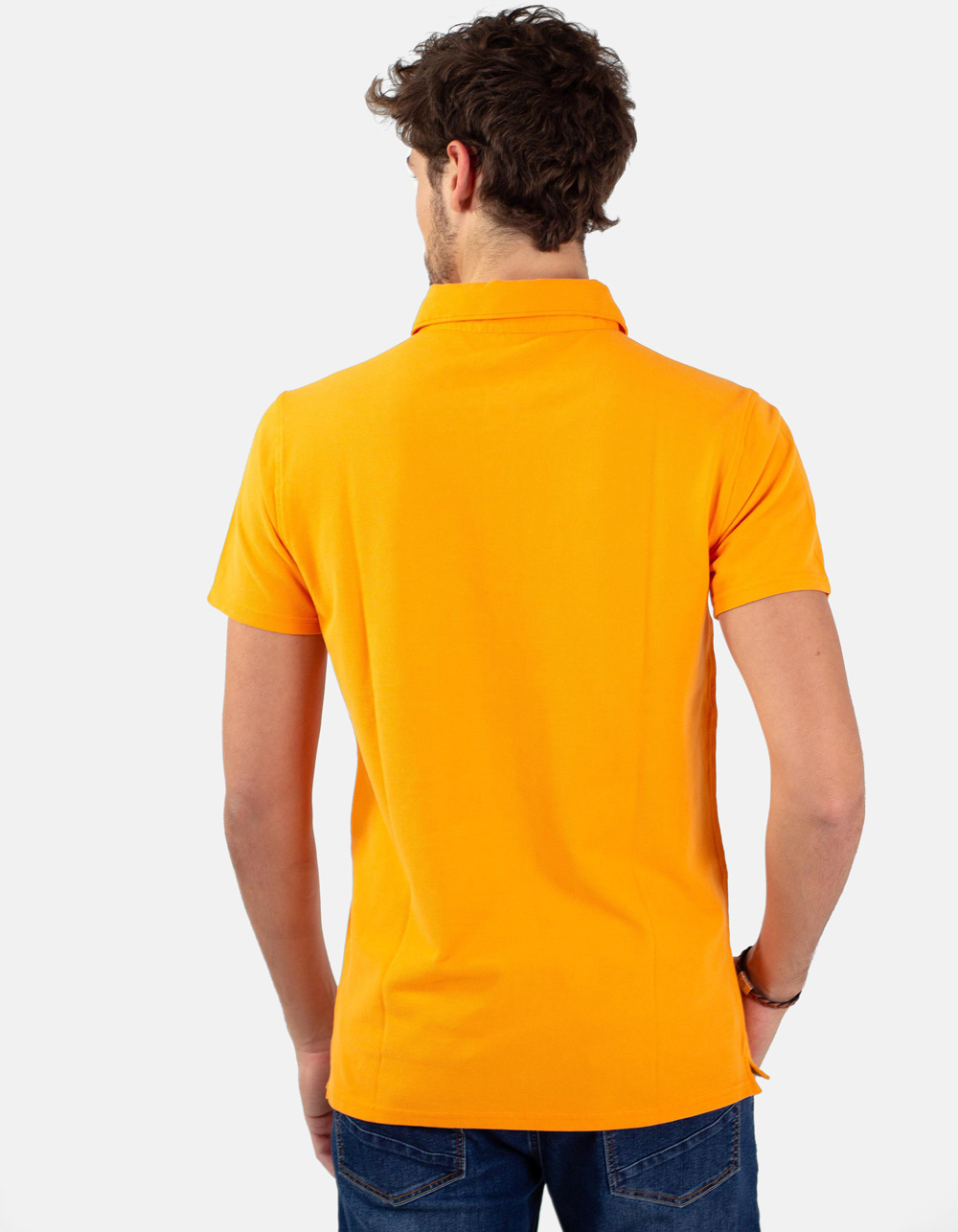 Orange pocket piqué polo - Backside