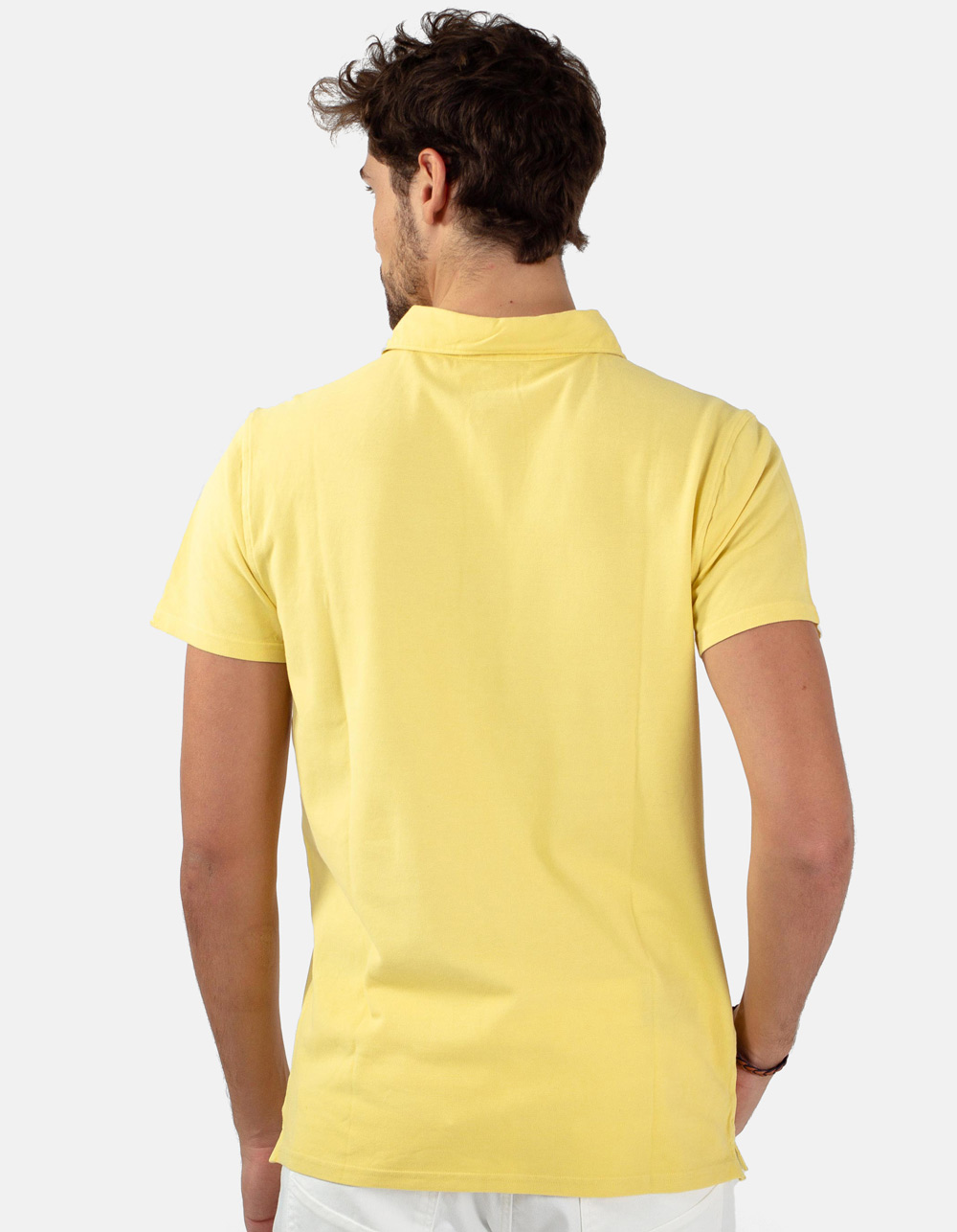 Yellow pocket piqué polo - Backside