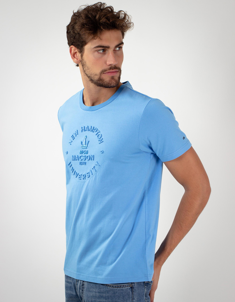 Blue Macson University t-shirt