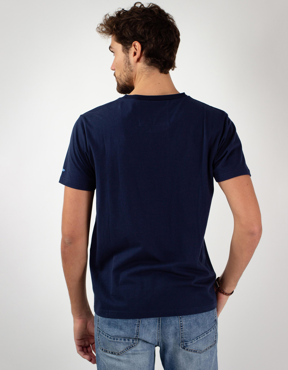 Blue Macson University t-shirt - Backside