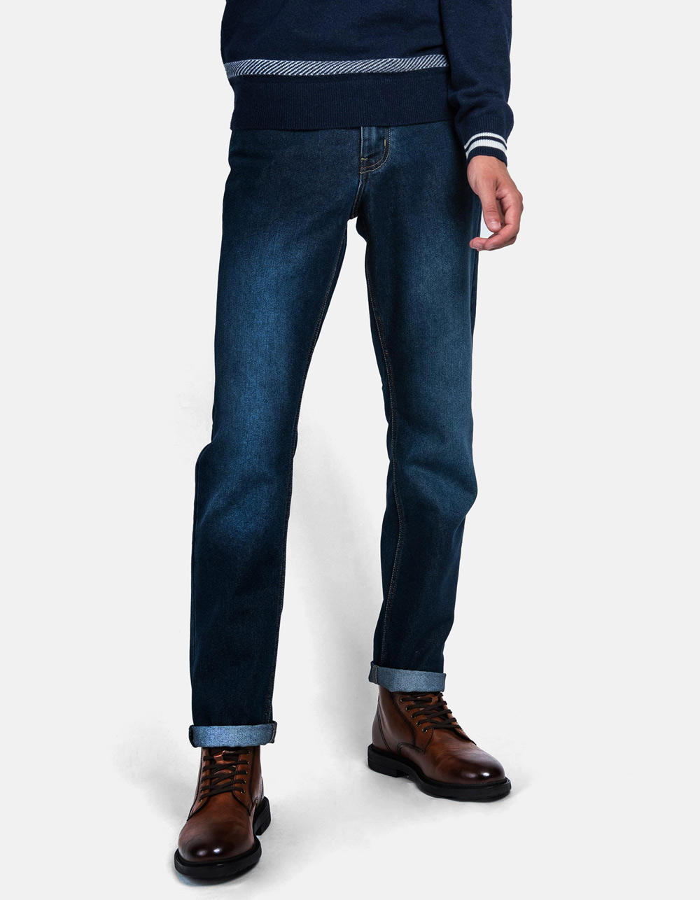 Basic Denim dark blue jeans