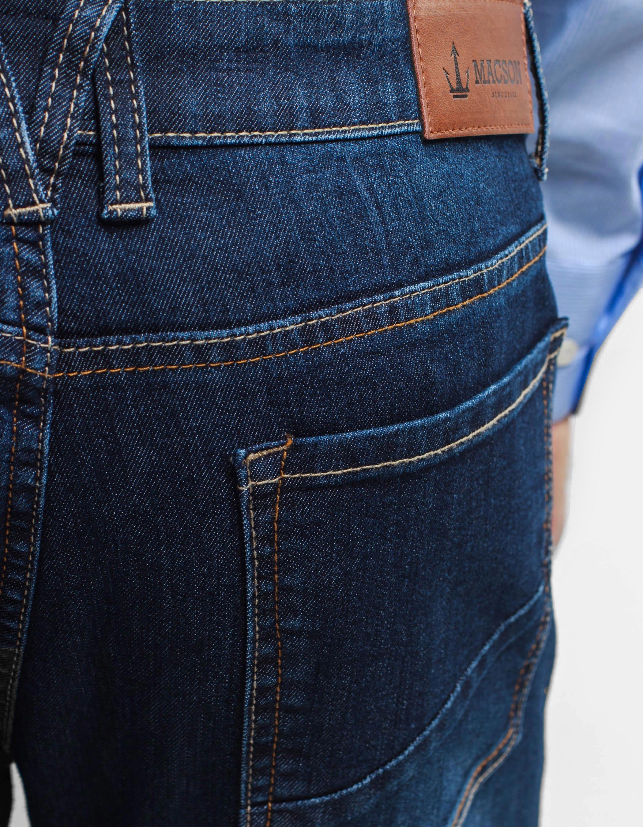 Pantalon Denim Basic Azul Oscuro