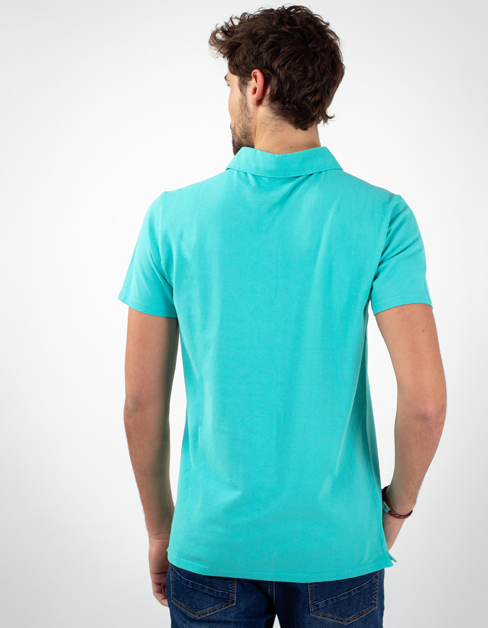 Waterfall pocket piqué polo - Backside