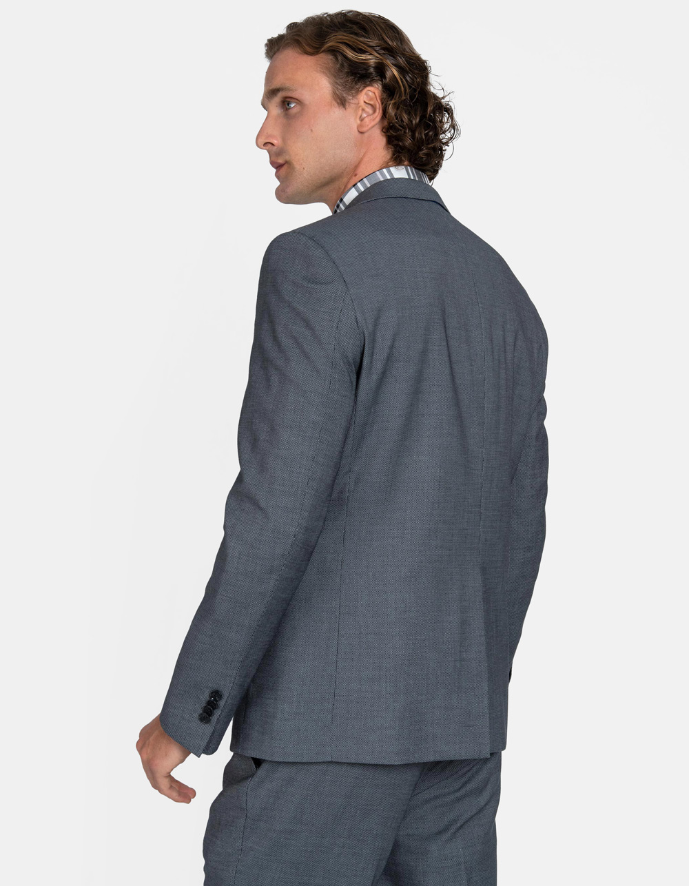 Light grey birdseye suit - Backside
