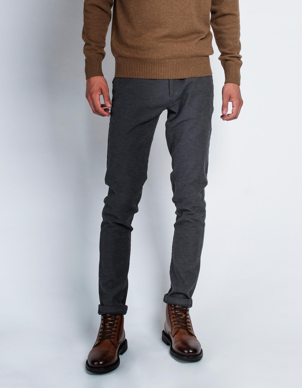 Dress trousers with grey microstructure