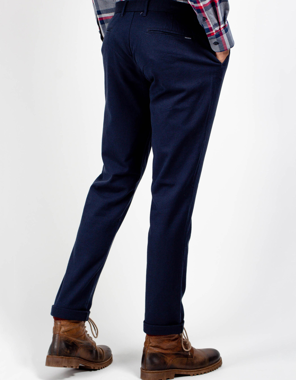 Dress pants with blue microstructure - Backside