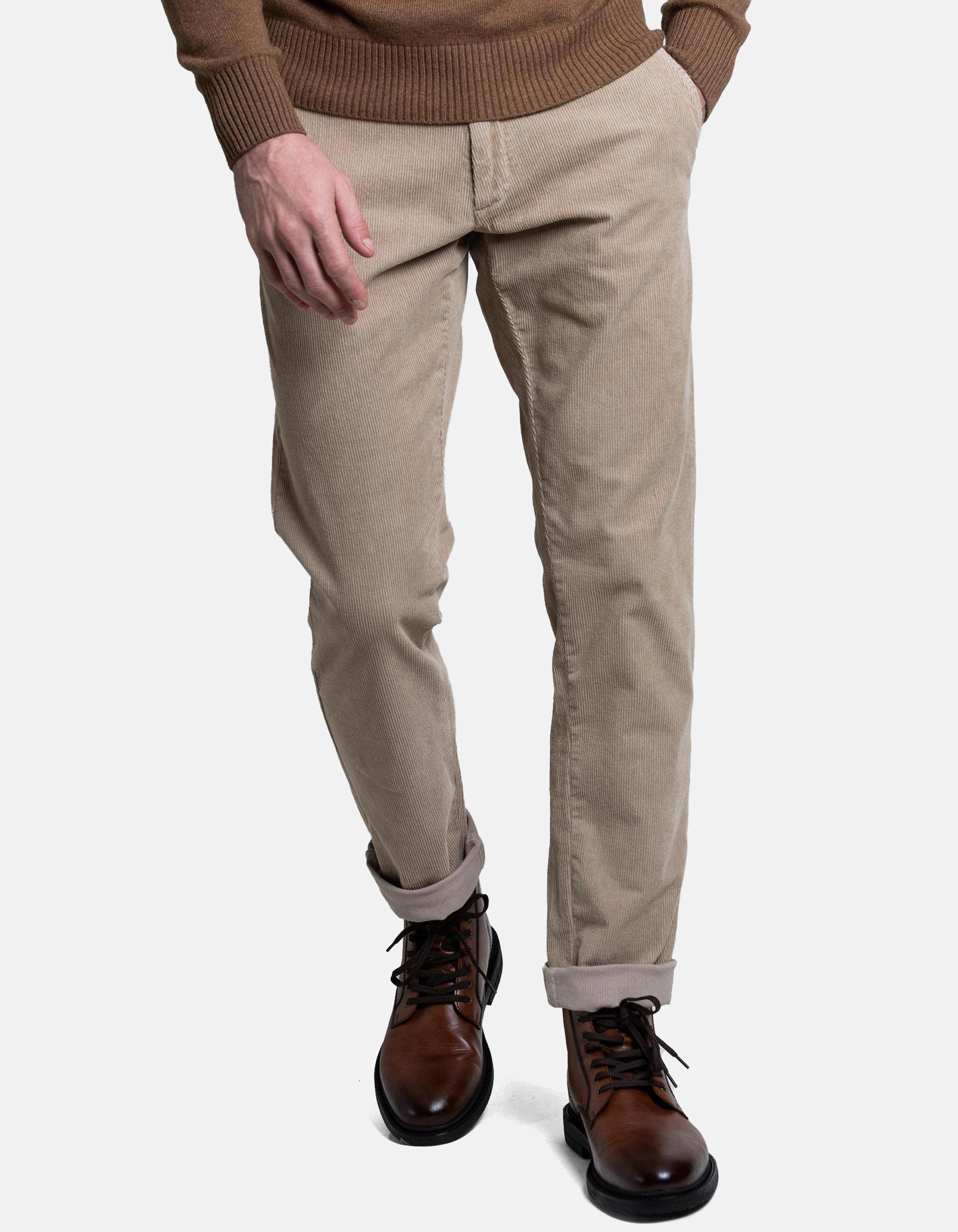 Pantalon De Pana Beige
