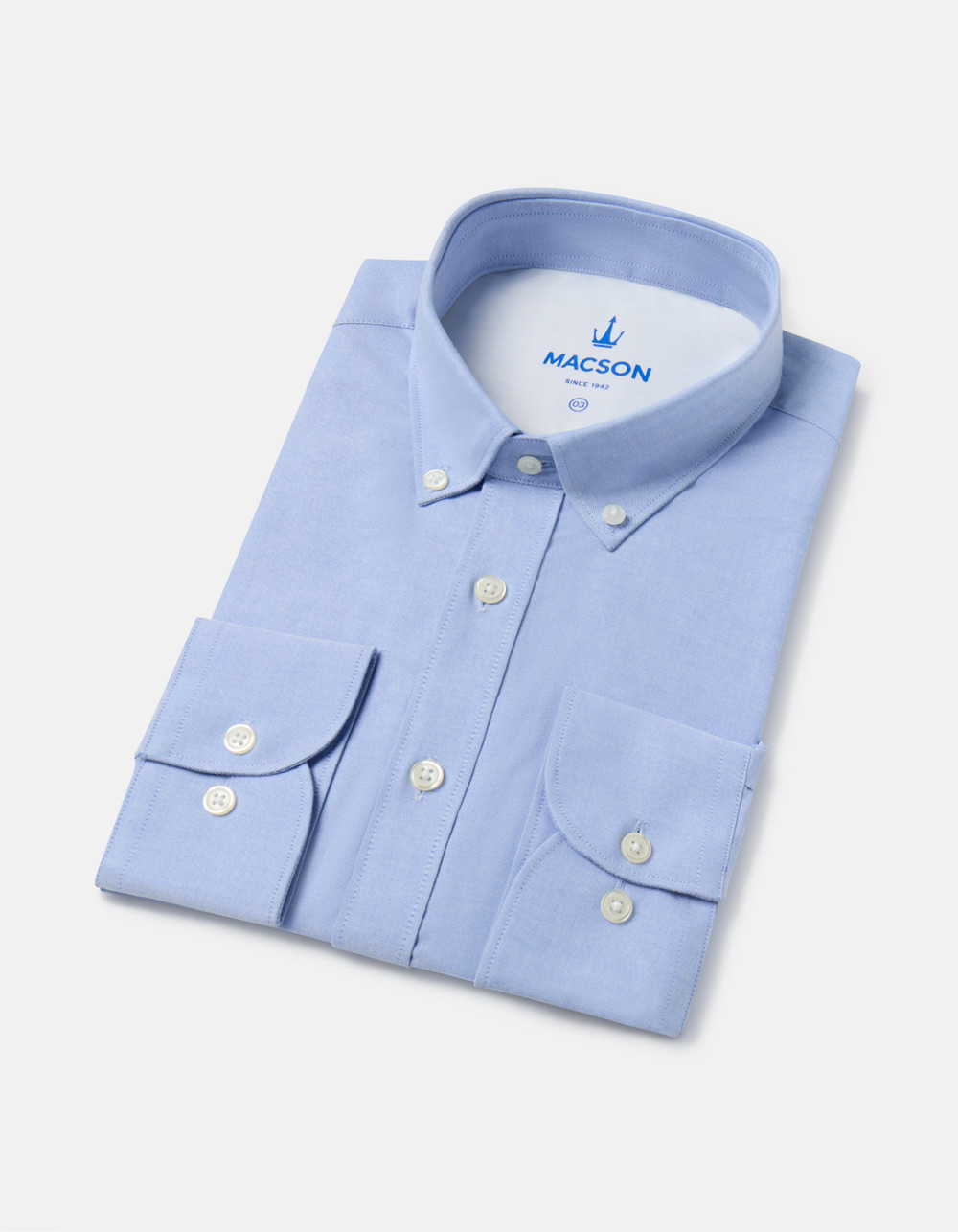 Light blue plain shirt with pocket