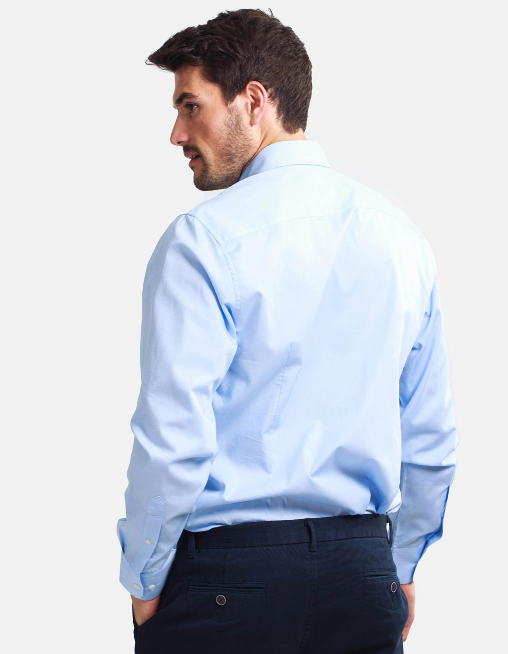 Light blue plain shirt - Backside