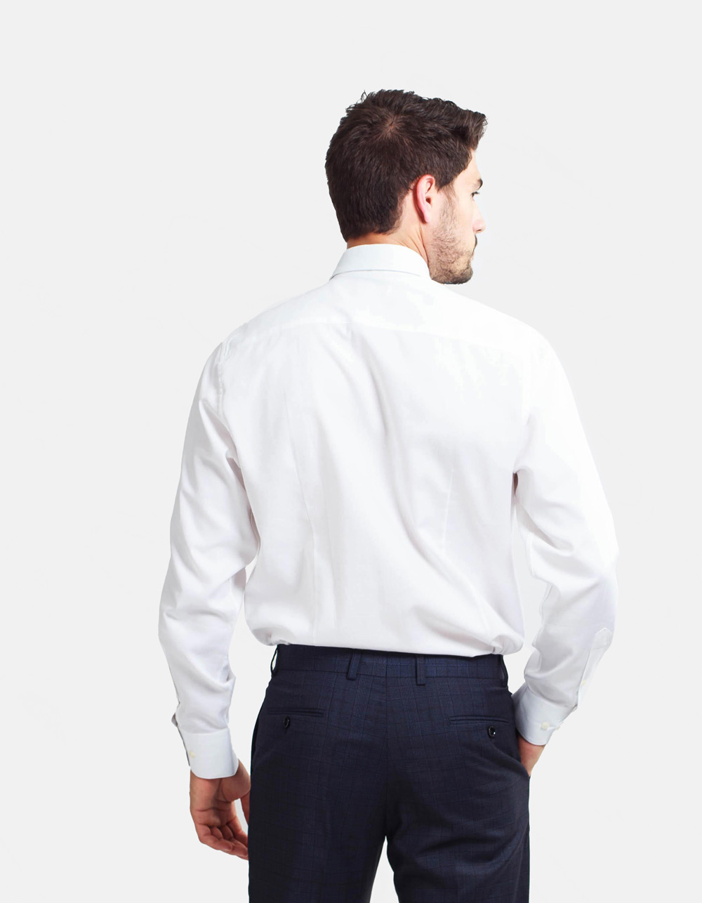 White estructure shirt  - Backside