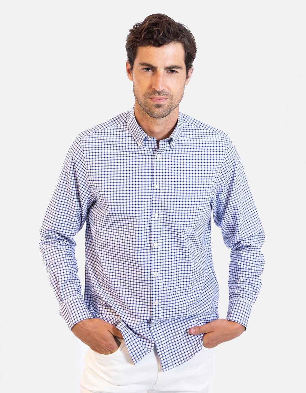 Long sleeve chequered shirt