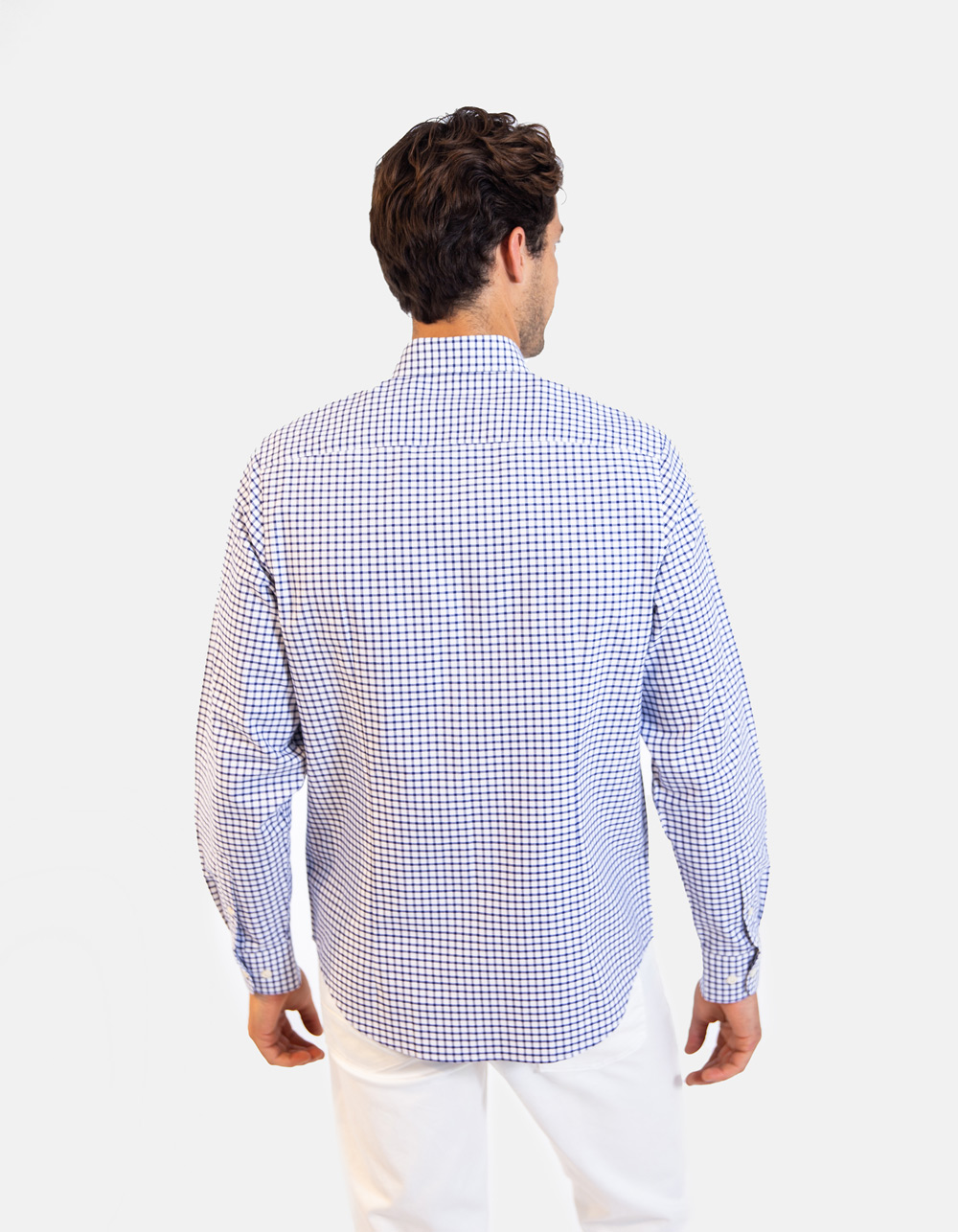 Long sleeve chequered shirt - Backside