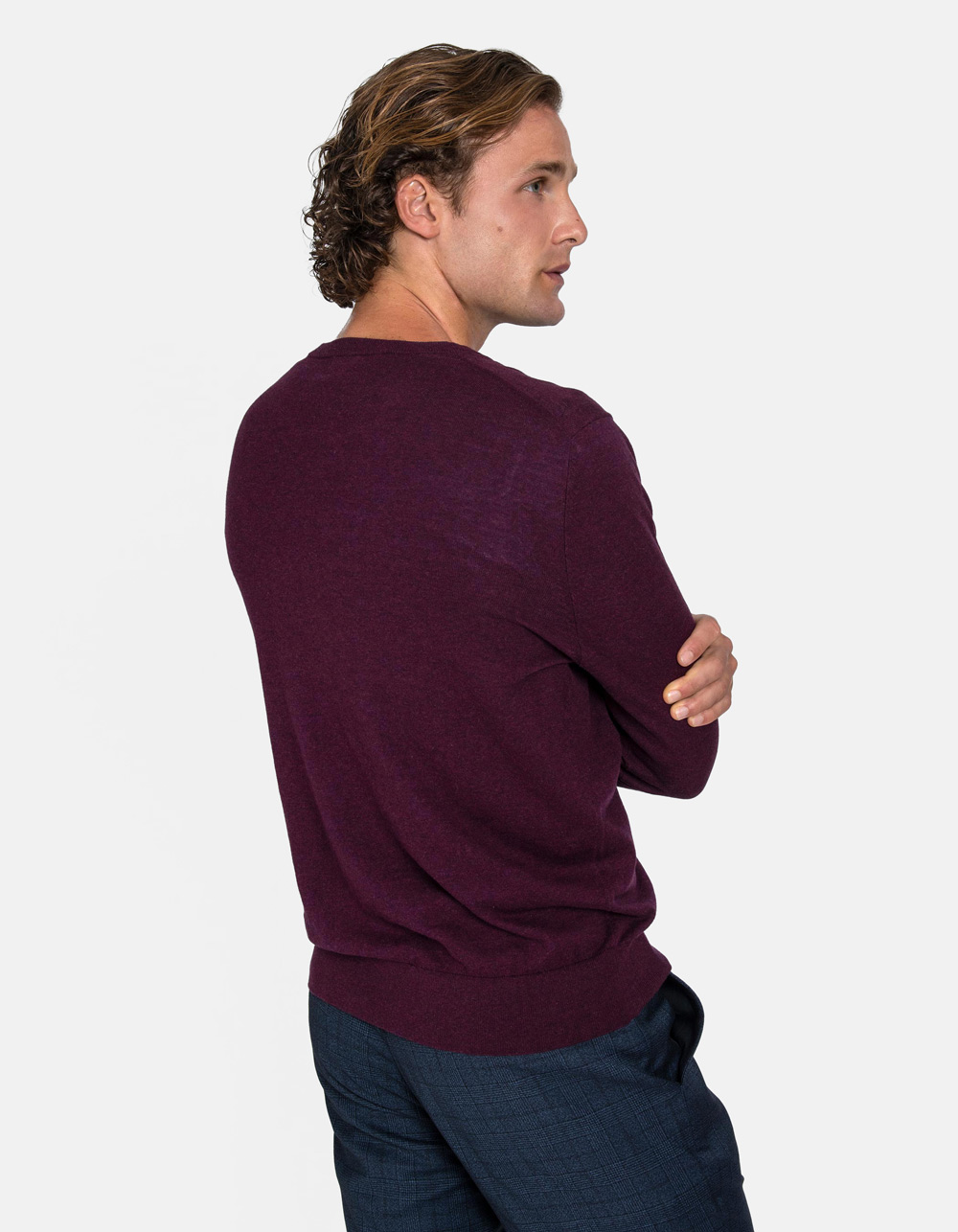 Bordo v-neck sweater - Backside