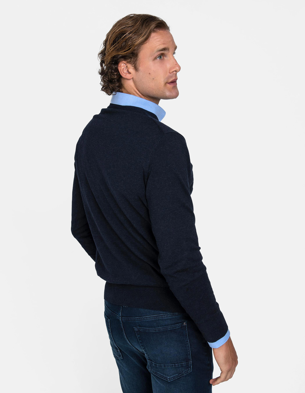 Jersey Marino de cuello redondo - Backside
