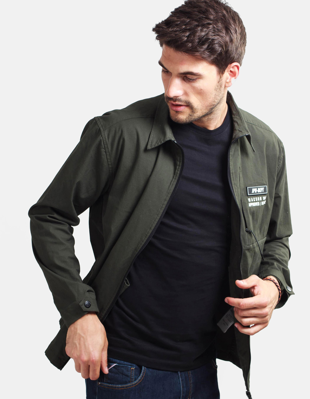 Militar green overshirt