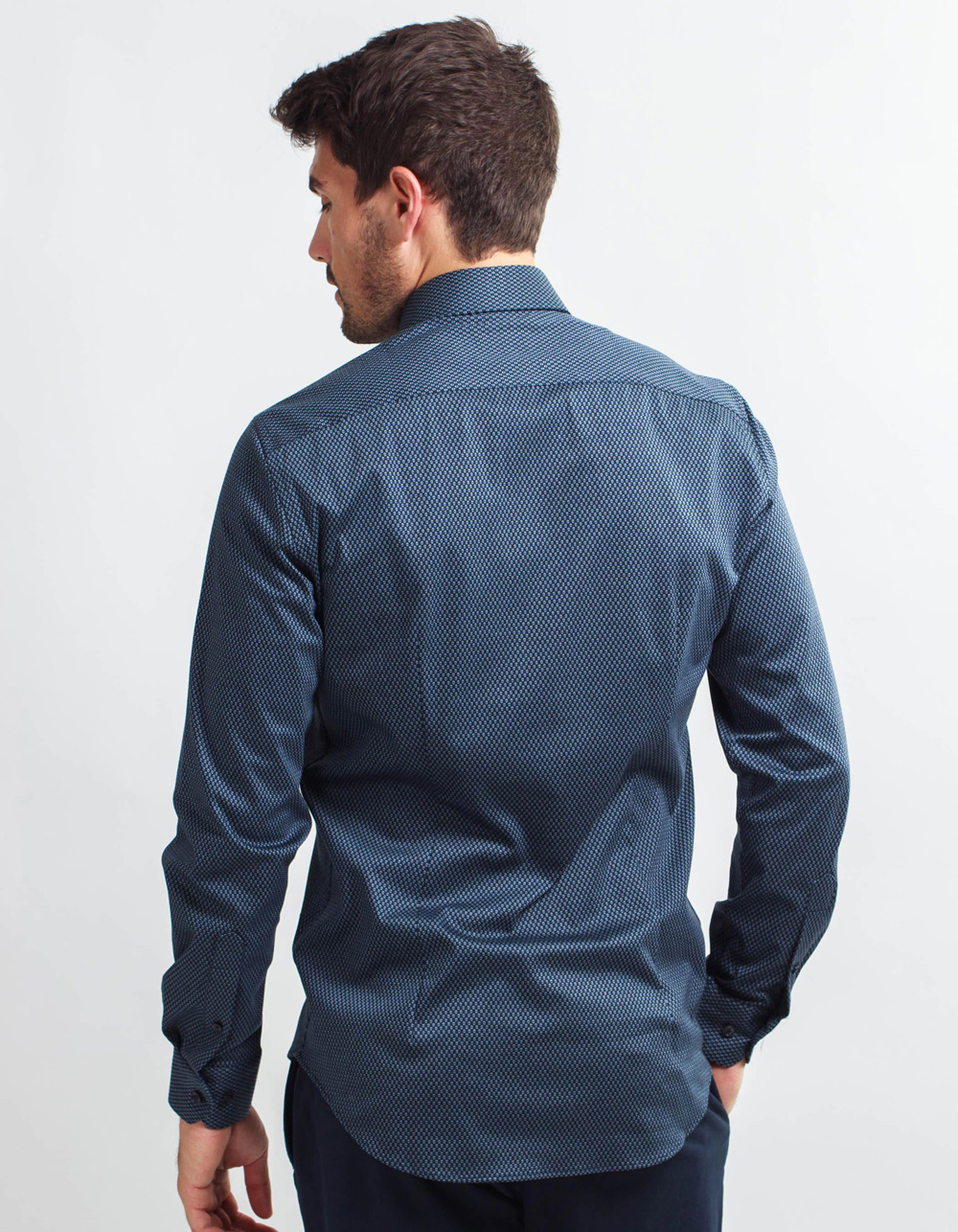 Dark navy Knit shirt  - Backside
