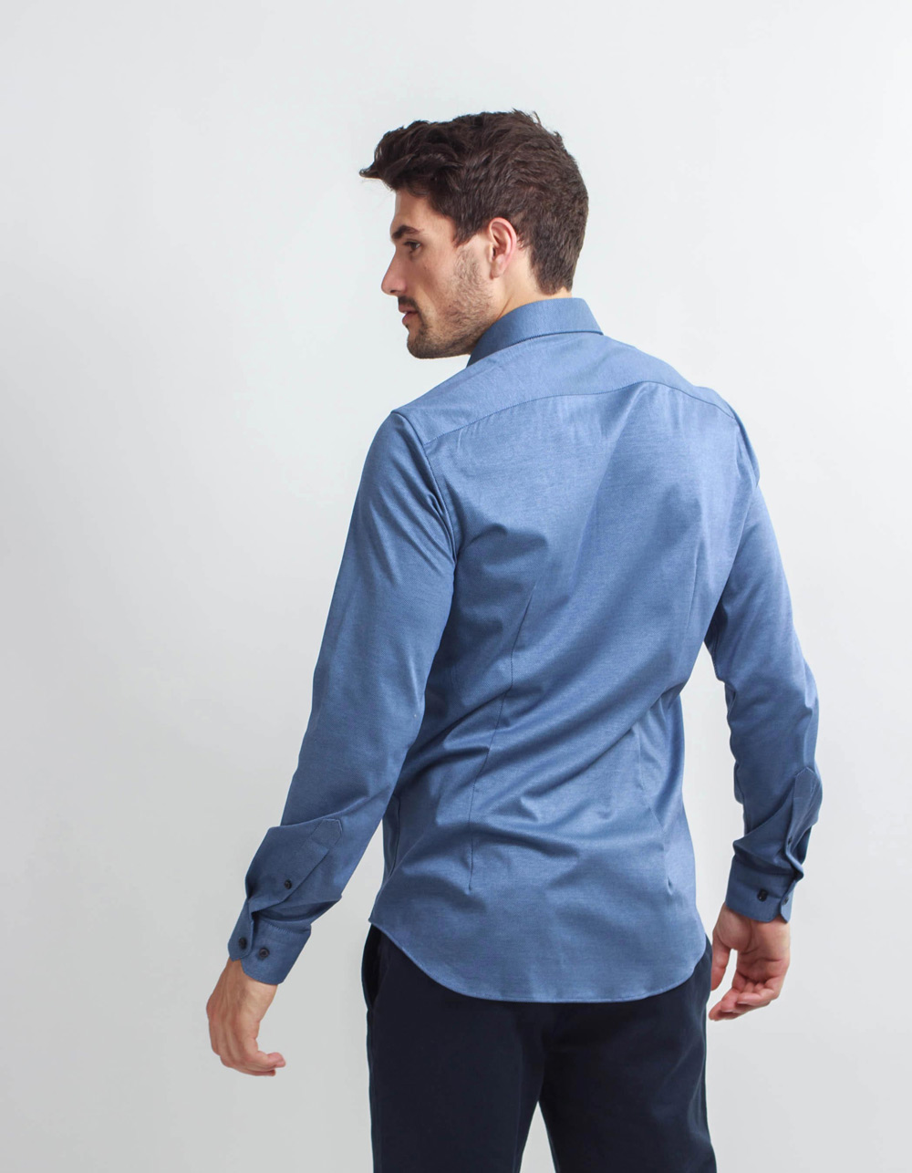 Blue Knit shirt  - Backside