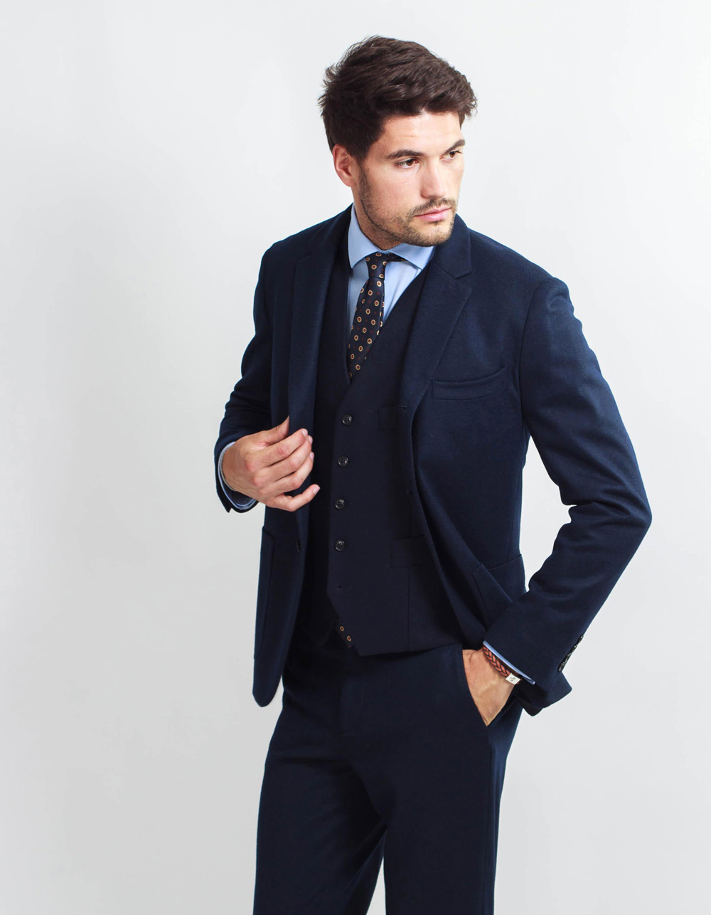 Wool effect blazer smooth