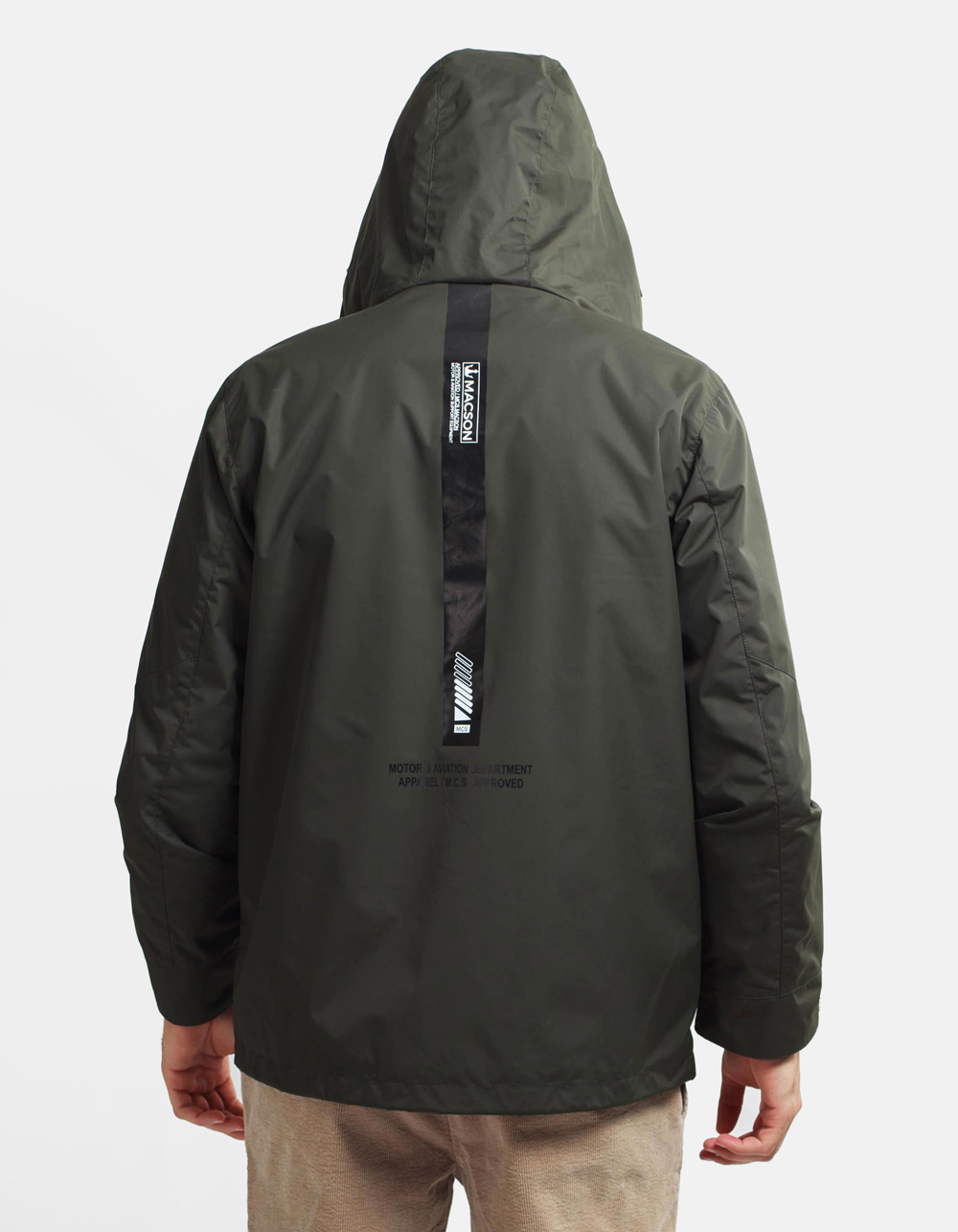 Technical woven parka - Backside