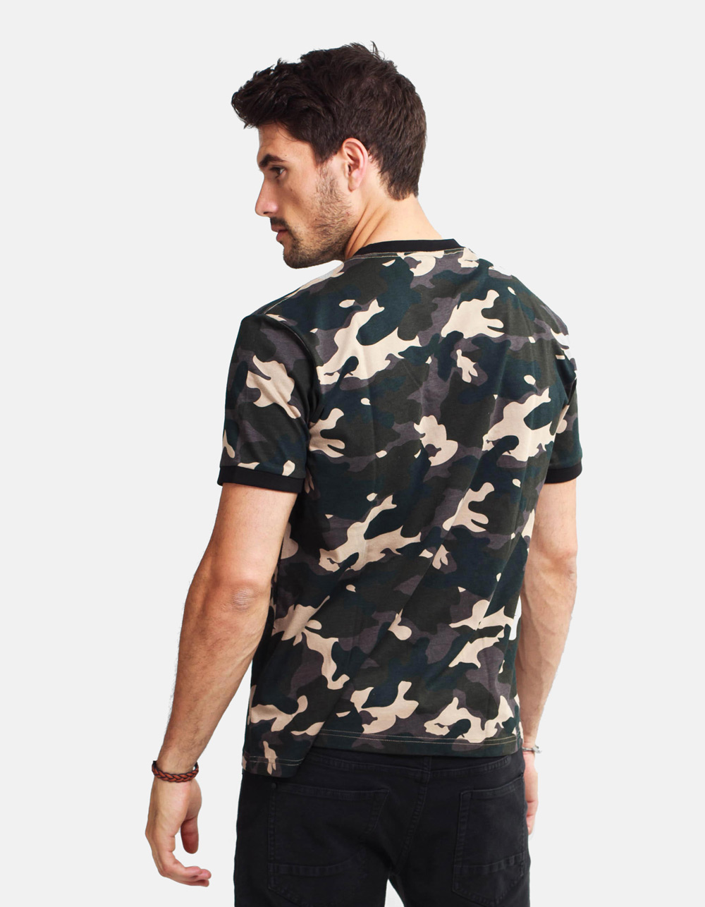 Camouflage printed t-shirt - Backside