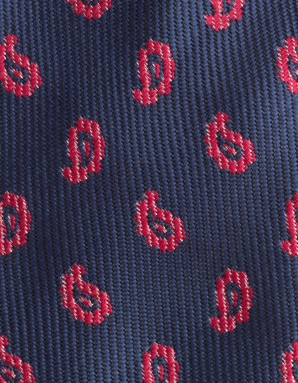 Navy tie with fantasy - Backside