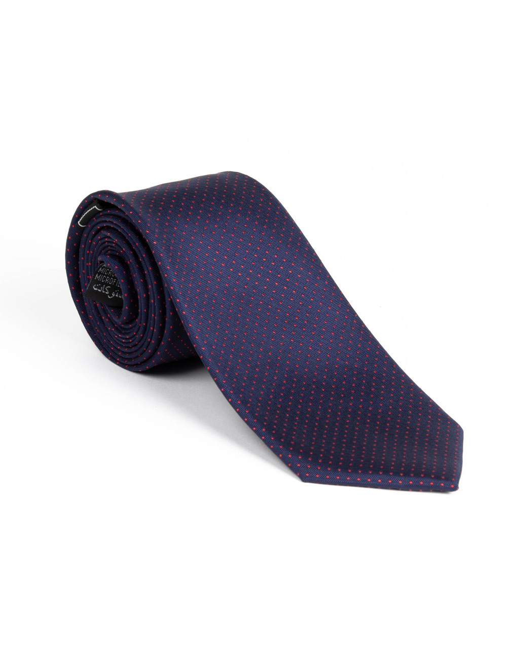 Dark Navy tie with micro polka dots