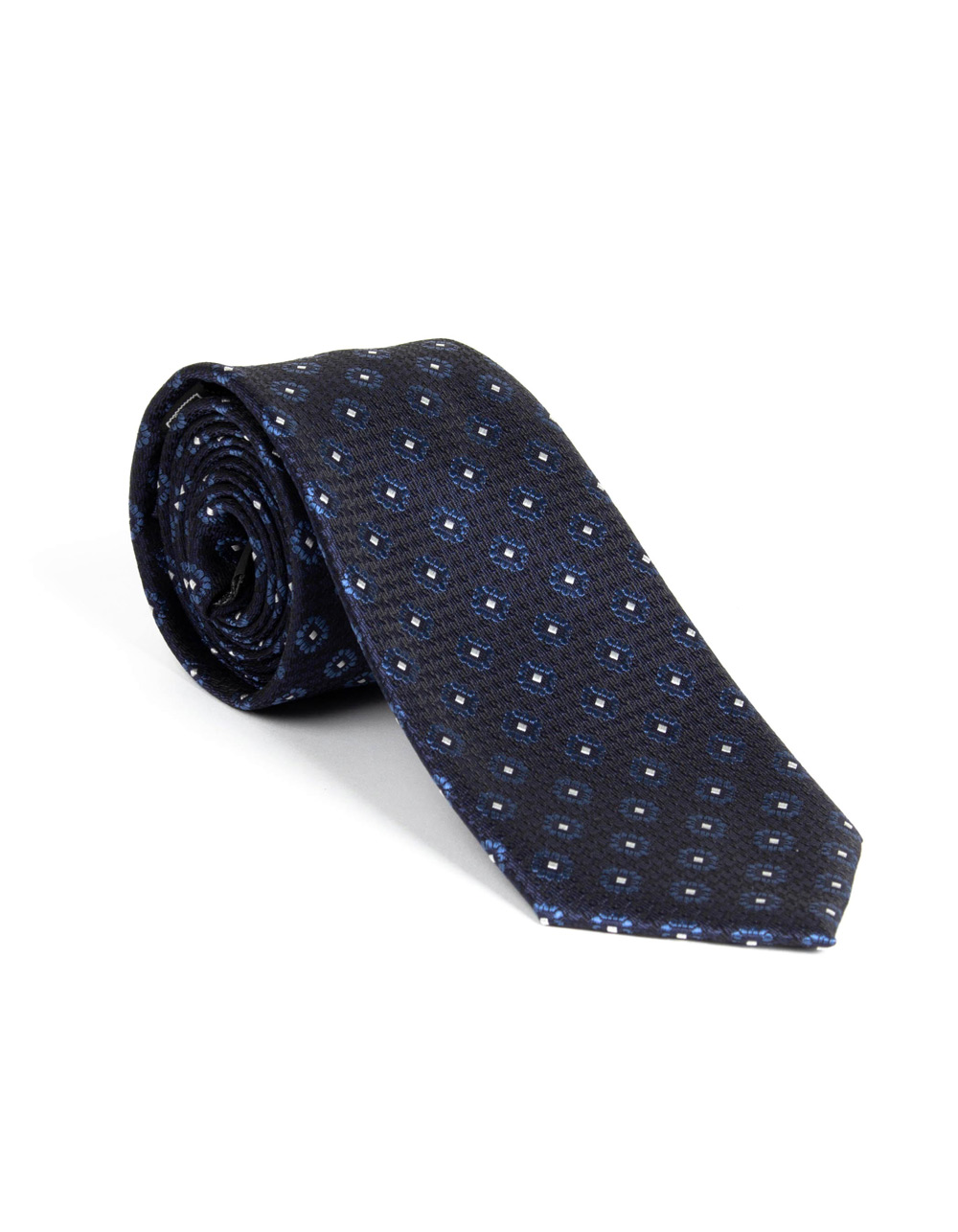 Dark Navy tie with pattern