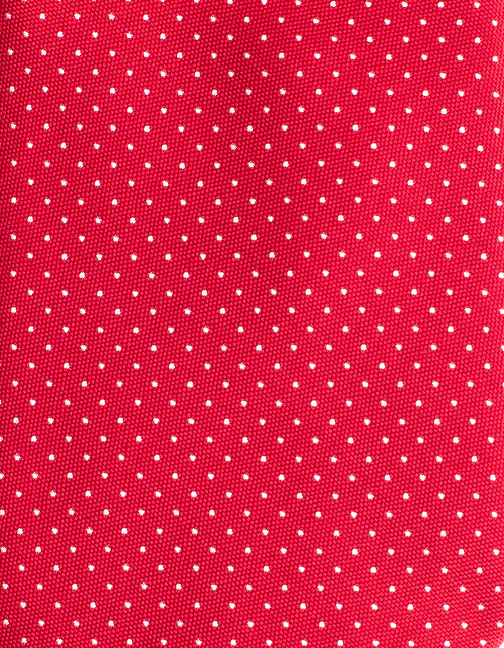 Red tie with micro polka dots - Backside