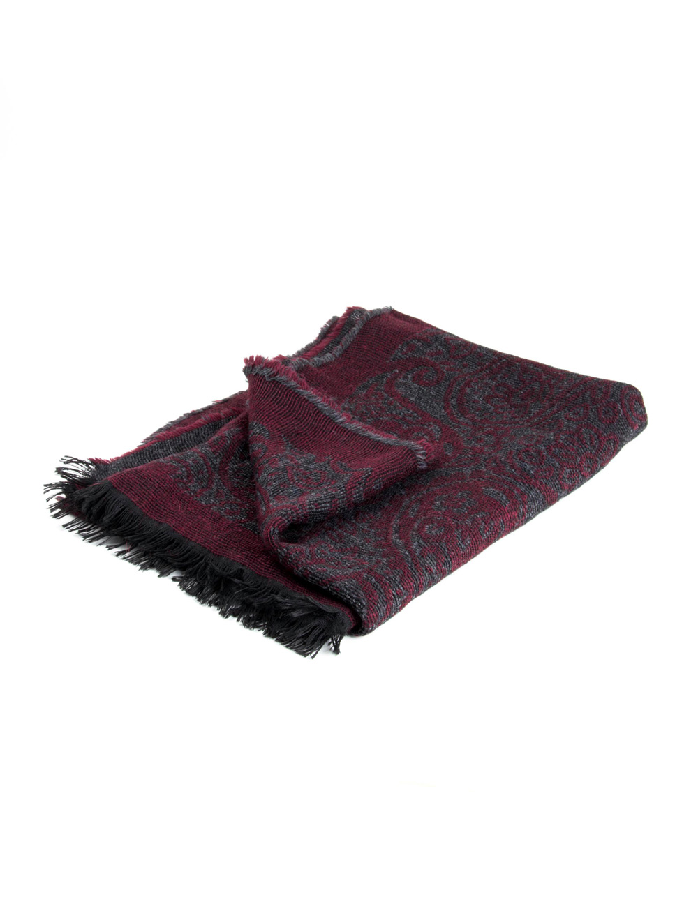 Bordo Grey fantasy foulard - Backside