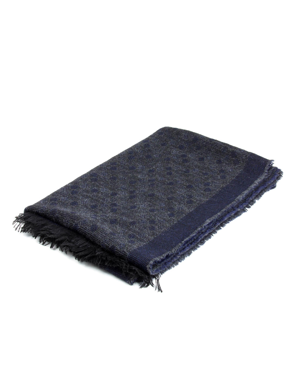 Navy Grey fantasy foulard - Backside