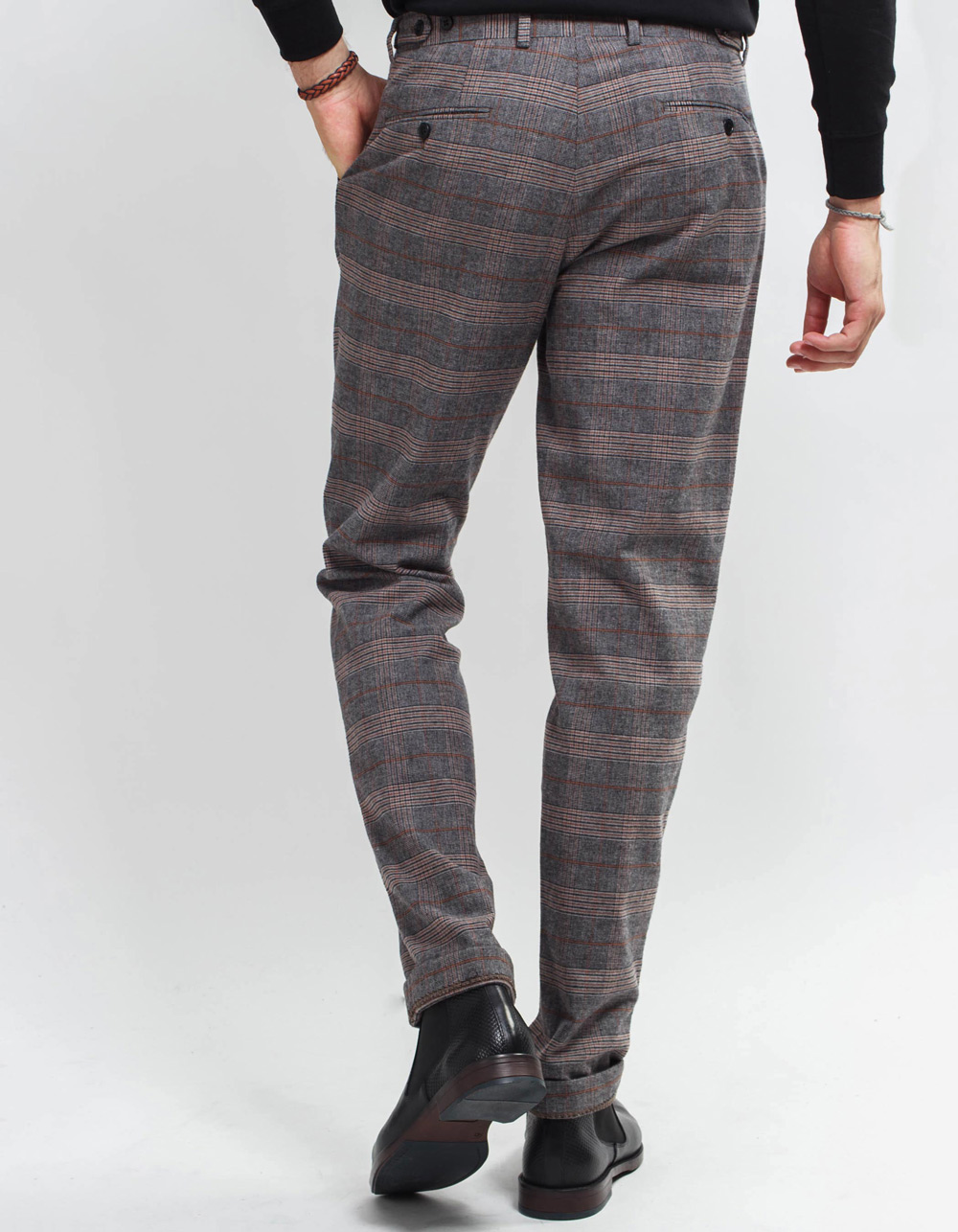 Plaid trousers - Backside