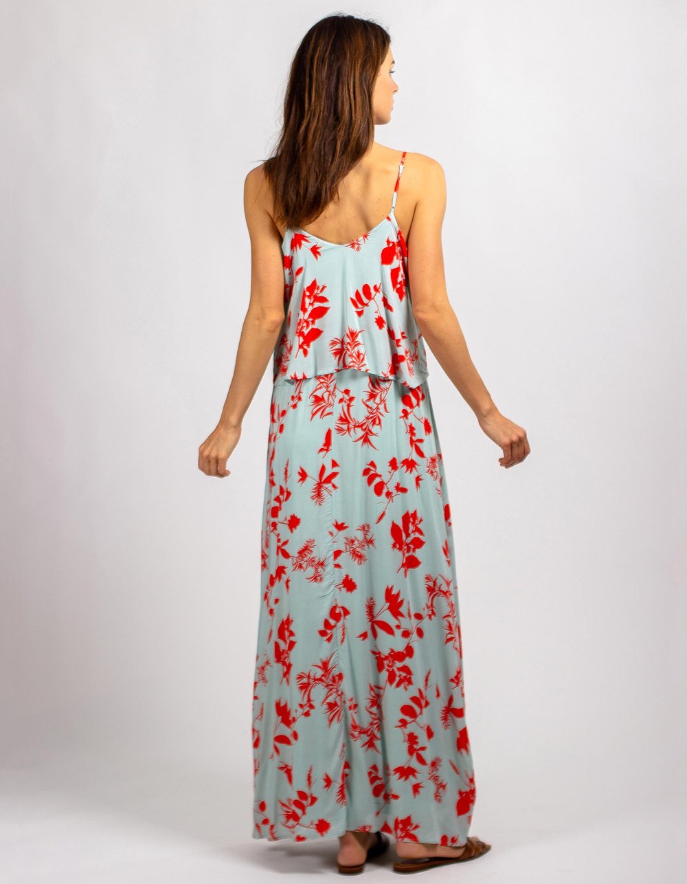 Vestido largo estampado floral - Backside