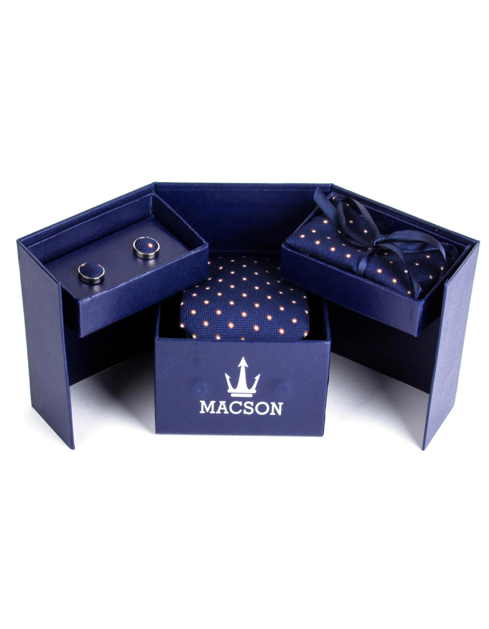 Cufflinks, tie and handkerchief box