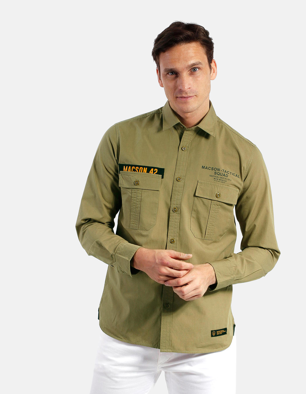 Shirt with placket pocket