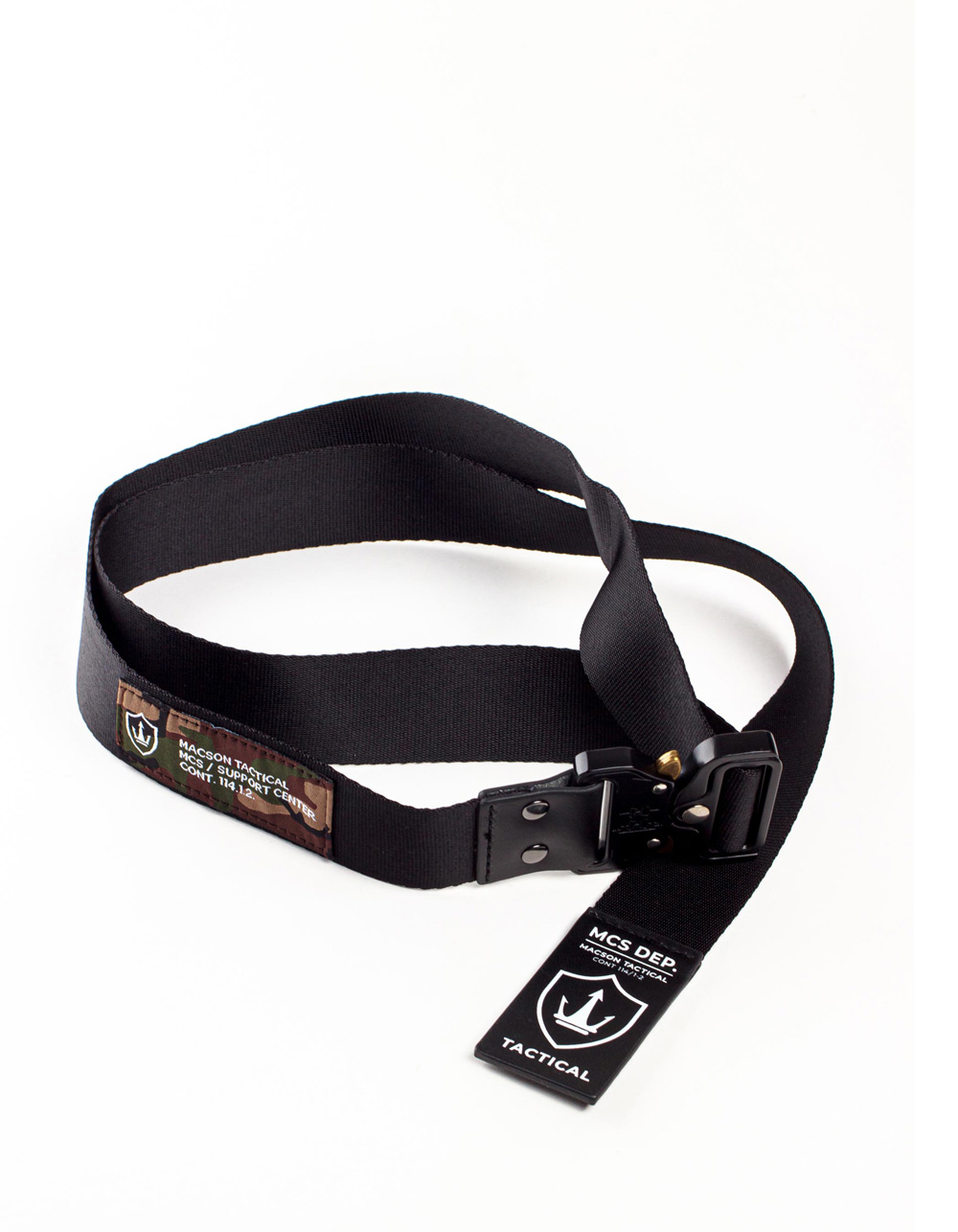 Black tactical carabiner belt.