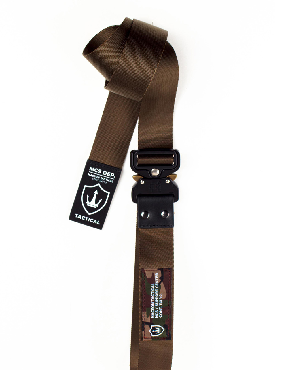 Kakhy tactical carabiner belt - Backside