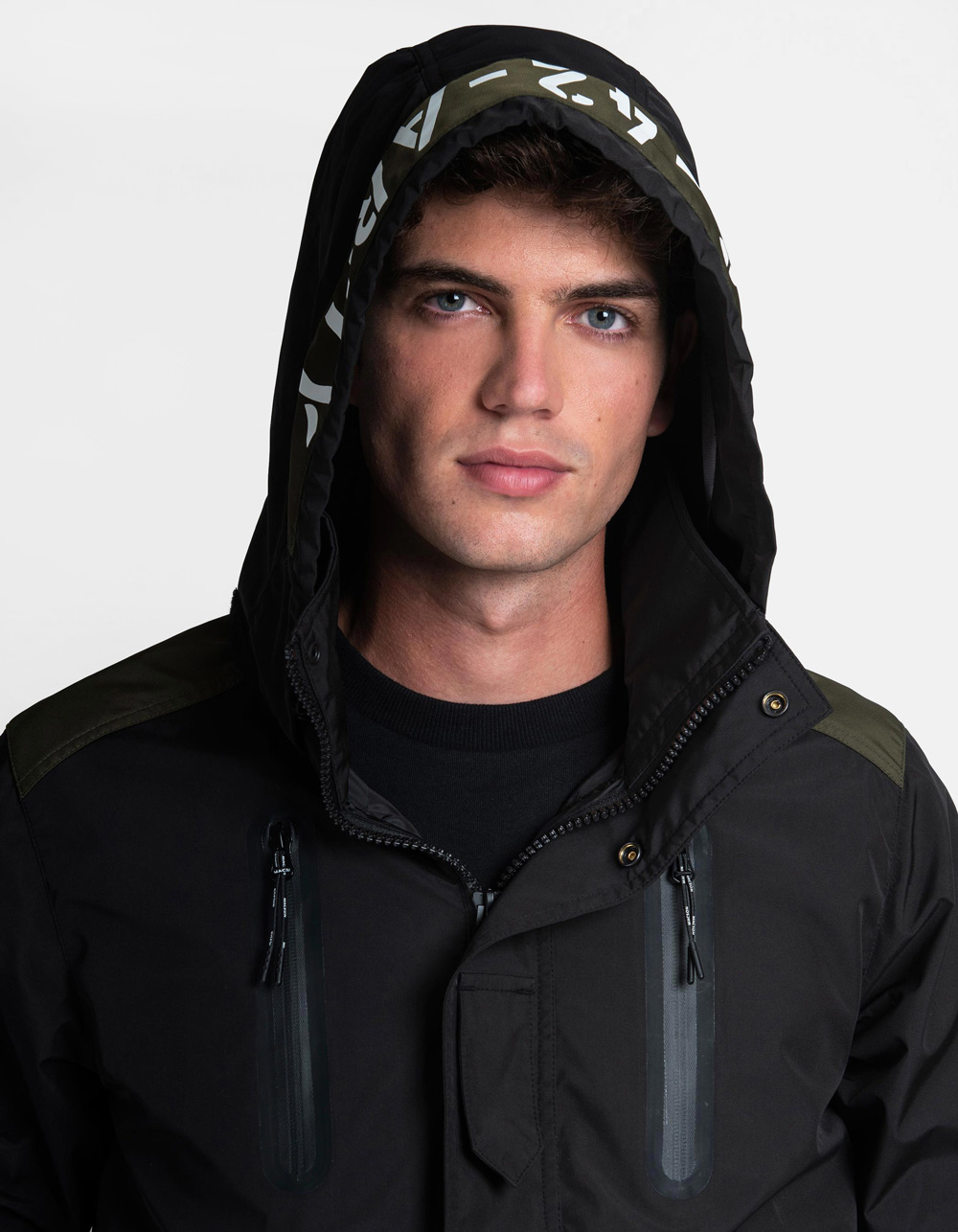 Technical waterproof parka