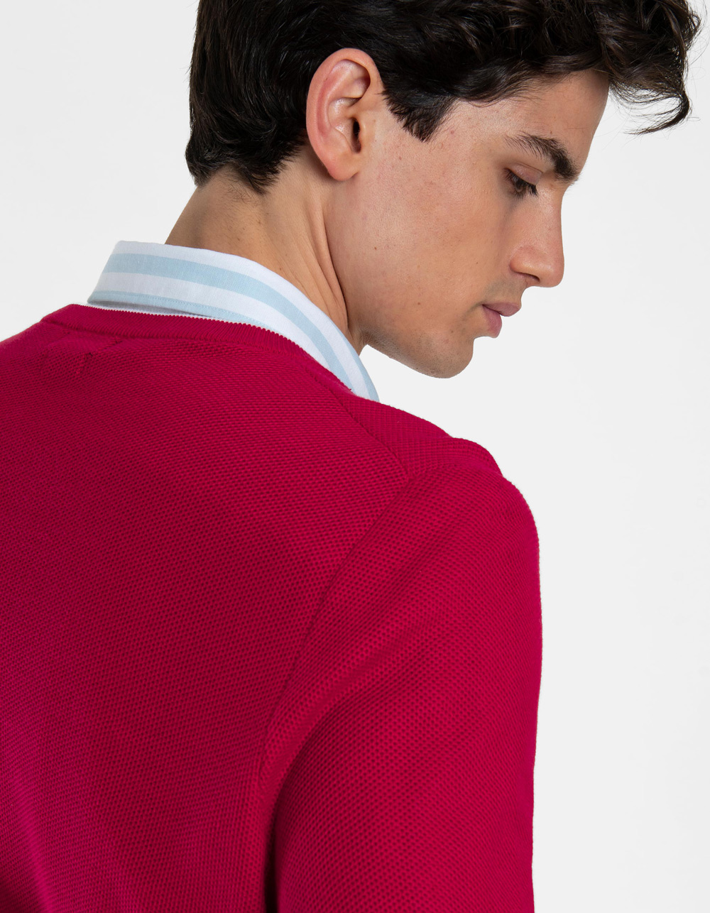 Jersey cuello pico rojo - Backside
