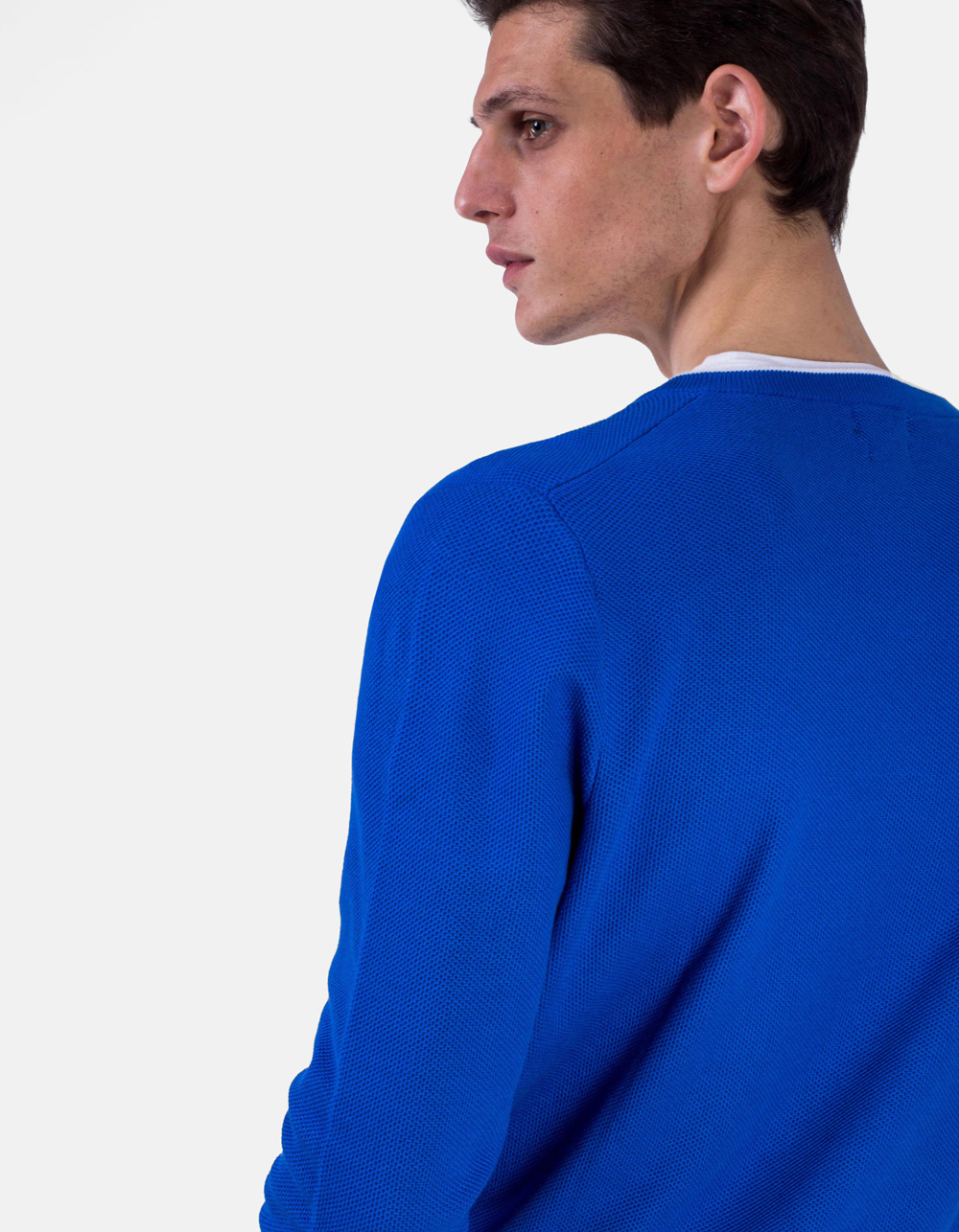 Jersey cuello pico azul - Backside