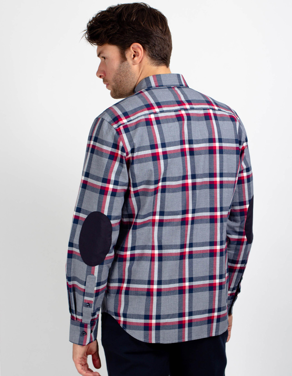 Long sleeve plaid shirt - Backside