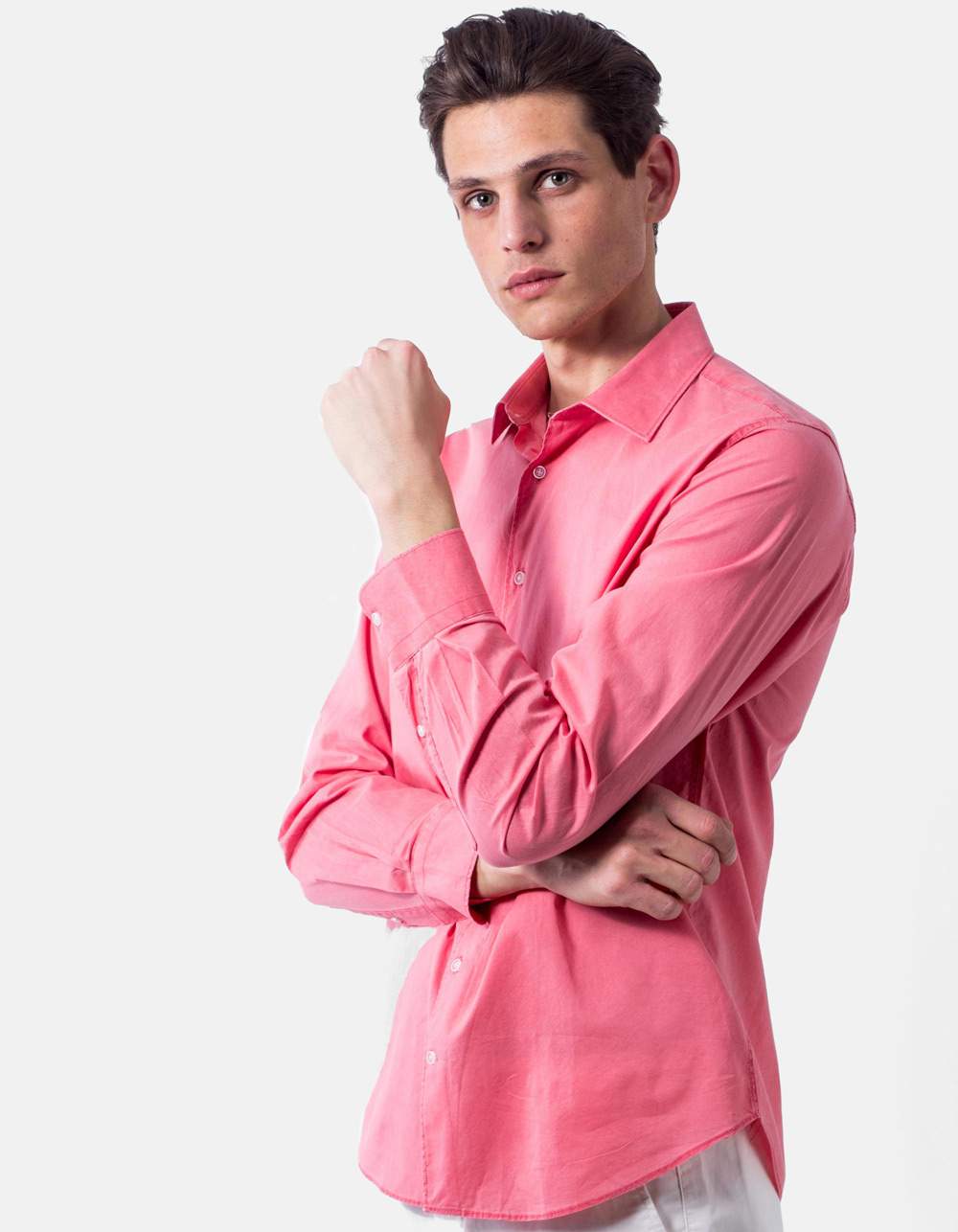 Coral washed shirt