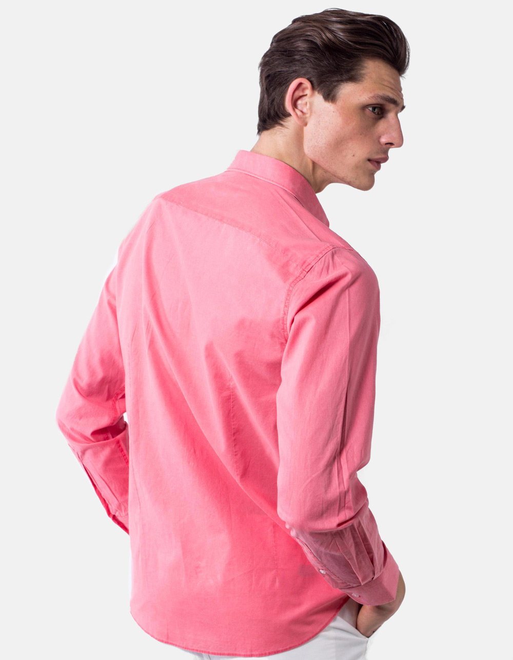 Coral washed shirt - Backside