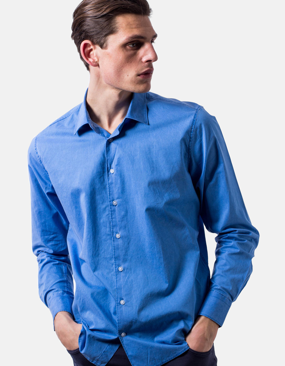 Blue washed shirt